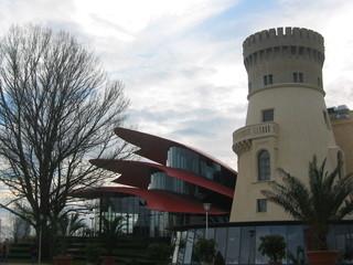 Hans Otto Theater Potsdam - Architektur, Gebäude, Hans Otto Theater, Kunst, Palmendach, Turm