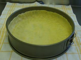 Schinken Käse Tarte #1 - Backform, Springform, gefettet, Mürbteig, salzig, Teig