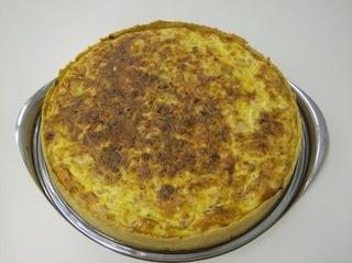 Schinken Käse Tarte #4 - Schinken Käse Tarte, gebacken, angerichtet, Kuchenplatte