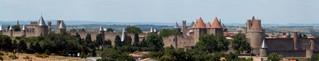 Carcassone - das Panorama - Frankreich, Südfrankreich, Römer, Freilichtmuseum, Mittelalter, Festungsstadt, Architektur, antike Architektur, Kegel