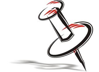 Pin (Stecknadel) - Pin, Stecknadel, Pinnwand, Nadel, Markierung, spitz, stechen, stecken