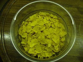 Knusperflocken #2 - Knusperflocken, Cornflakes, Schüssel, gewogen, Kunststoff, Kreis, Schale, Frühstück