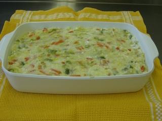 Appenzeller Gemüseauflauf #2 - Appenzeller, Gemüseauflauf, vegetarisch, Auflaufform, geschichtet