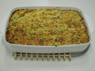 Appenzeller Gemüseauflauf #3 - Appenzeller, Gemüseauflauf, vegetarisch, überbacken, Auflaufform, Kruste