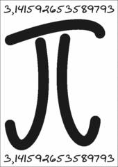 Pi-Symbol: 3,14 - Mathematik, Pi-Zeichen, Pi-Symbol, Kreiszahl, Kreisberechnung, Kreis