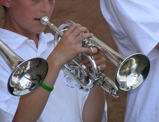 Kornettspieler - Blechblasinstrument, Ventile, Kesselmundstück, konisch