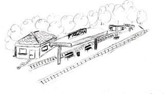 Bahnhof - reisen, verreisen, Ausflug, Bahnhof, Anlaut B