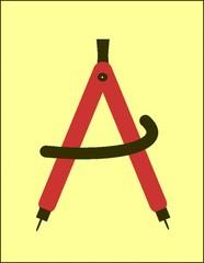 Zirkel (Zeichengerät) - Zirkel, Zeichengerät, Mathematik, Radius, Konstruktion, Geometrie, Kreis, Schenkel, Winkel, drehen