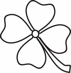 Kleeblatt - Kleeblatt, Klee, Glück, Glücksbringer, Silvester, Neujahr, Anlaut K, vier