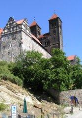 Quedlinburg - Schloss und St. Servatiuskirche - romanisch, Romanik, Schloss, Schlossberg, Kirche, Stiftskirche, Turm, Sachsen-Anhalt