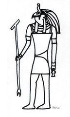Horus - Ägypten, Hochkulturen, Mythologie, Götter, Gottheiten, Glaube, Religion, Totenkult, Totengericht, Horus, Falke, Pyramiden, Anlaut P