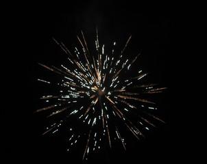 Feuerwerk 3 - Rakete, Feuerwerk, Silvester, Neujahr, Lichteffekt, Pyrotechnik, leuchten, Licht, Nacht, Himmel, schwarz, hell, leuchtend