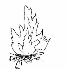 Feuer - Feuer, Lagerfeuer, Holz, Flammen, lodern, knistern, warm, heiß, Anlaut F, brennen, verbrennen, Verbrennung