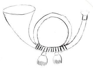 Posthorn - Post, Brief, Posthorn, Musik, Musikinstrument, Anlaut P, Anlaut H