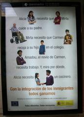 Plakat gegen Fremdenfeindlichkeit - Fremdenfeindlichkeit, xenofobia, antixenofobia, inmigrante, inmigrantes, integración, ayuda