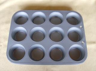 Muffins #1 - Muffinform, Backform, Metall, zwölf, rund, Kreis