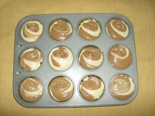 Muffins #3 - Muffins, Backform, Muffinform, Rührmasse, Teig, gefüllt, zwölf