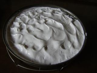 Mein Rhabarberkuchen #3 - Rhabarberkuchen, Kuchen, Backform, vorgebacken, Eiweißmasse, Meringenmasse