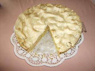 Mein Rhabarberkuchen #5 - Rhabarberkuchen, gebacken, angerichtet, Tortenplatte