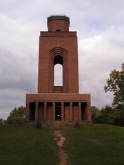 Bismarckturm - Bismarckturm, Spreewald, Urlaub, Erholung, Aussichtsturm, Turm, Säule, symmetrisch, Symmetrie
