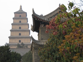 China - Xi'an Wildganspagode - China, Geografie, Religion, Buddhismus, Sehenswürdigkeit, Tempelanlage, Pagode