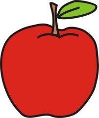 Apfel - Apfel, rot, Obst, Frucht, Anlaut A