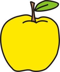 Apfel - Apfel, gelb, Obst, Frucht, Anlaut A
