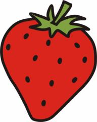 Erdbeere - Erdbeere, Obst, Frucht, rot, Anlaut E