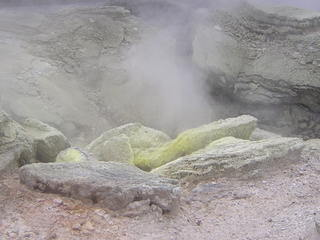 Geysir in Rotorua, Neuseeland - Geysir, Neuseeland, Rotorua, Schwefel, heiß, Quelle, Geologie, Klima, Dampf, sublimieren, Fumarole