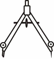 Zirkel weit - Zirkel, Zeichengerät, zeichnen, Mathematik, Radius, Konstruktion, Geometrie, Kreis, Kreise, Schenkel, Anlaut Z