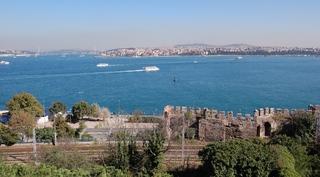 Istanbul-Blick über den Bosporus - Istanbul, Osmanisches Reich, Europa, Asien, Bosporus