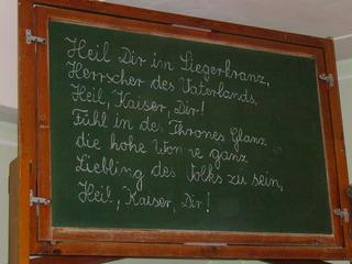 Tafel - Tafel, Kipptafel, Kreide, Schule früher, Kaiserzeit, Schrift, Klassenzimmer Unterricht, Deutschunterricht, Geschichtsunterricht