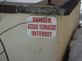 Schild - Gefahr - Frankreich, Schild, Warnung