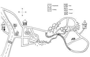 Wegbeschreibung (1) Grundschule Klasse3/4 - Wegbeschreibung, Aufsatzerziehung, Grundschule, Sprachunterricht, Wegeskizze, Wegeplan, Lageplan, Plan, Skizze, Stadtplan