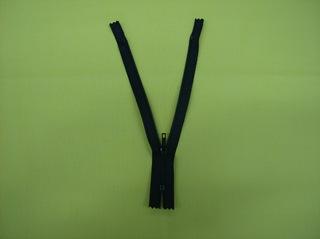 Reißverschluss #2 - Reißverschluss, Zipper, Zippverschluß, Seitenteile, Krampen, kleine Zähne, Schieber, verhaken, Kunststoff, schwarz, geöffnet