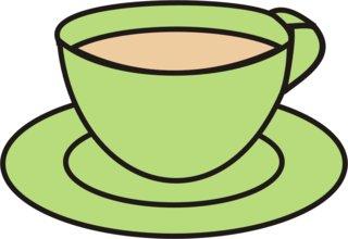 Tasse - Tasse, Teller, Kaffee, Kaffeetasse, trinken, Anlaut T, Tee, Wörter mit Doppelkonsonanten