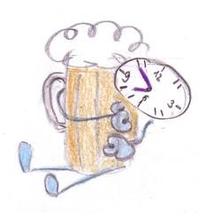 Herr Ticktack - Uhren und Tätigkeit #3 - Bierglas, Bier trinken, Zeit, Uhrzeit, Tagesablauf, Kneiptour, Termin