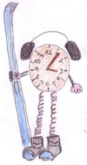 Herr Ticktack - Uhren und Tätigkeit #10 - Uhrzeit, Freizeit, Uhr, Tagesablauf, Tageszeit, Hobby, Ski, Schi, Winter, schifahren, Wintersport