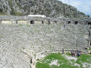 Türkei - römisches Theater bei Myra - Türkei, Myra, Lykien, Demre, Kale, Amphitheater, Geschichte, Antike