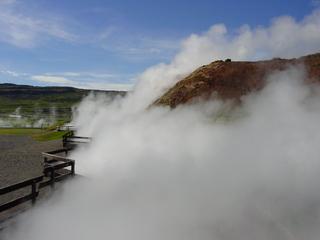 Heißwasserquelle auf Island - Heißwasserquelle, Island, Dampf, Wärme, Wasser, Schwefel, Island