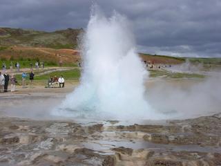 Geysire auf Island - Geysir, Island, Dampf, Druck, Fontäne, heiß, Eruption