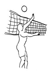 Beachvolleyball 1 - Beachvolleyball, Sommer, Strand, Ball, Ballsport, Sport, olympische Sportart, Funsport, Volleyball, Trendsport, Freizeitsport