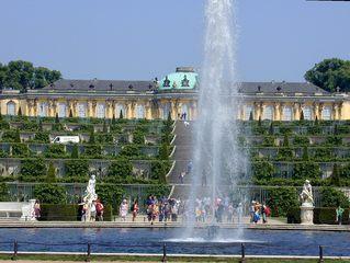 Schloss Sanssouci - Potsdam, Sanssouci, Schloss, Wasserspiel