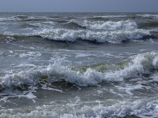 Meeresbrandung - Meer, Nordsee, Wellen, Wellengang, Brandung, Meeresbrandung, Gischt, Schaumkronen, Flut