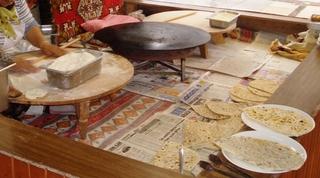 Türkisches Brot - Türkei, Essen, türkisches Brot, ekmek, pide, flach, Brot, Mehl, auswellen, backen, Fladen