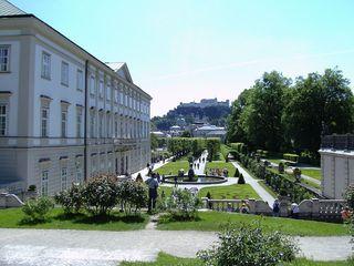 Salzburg, Mirabellpark - Salzburg, Mirabellpark, Park, Österreich, Schloss Mirabell, Festung Hohensalzburg, Garten, Schlossgarten, Park