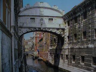Venedig - Venedig, Italien, Seufzerbrücke, Dogenpalast, Kanal, Gondeln