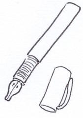 Füller - Füller, Federhalter, Füllfederhalter, schreiben, Stift, notieren, Notiz, Tinte, Feder, Kapsel, Griffmulde