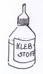 Klebstoff - Kleber, Klebstoff, Alleskleber, Basteln, Leim, Uhu, kleben, Flüssigkleber, Prozesswerkstoff