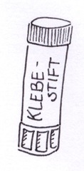 Klebestift - Klebestift, Kleber, kleben, basteln, Uhu, Alleskleber, Zylinder